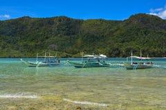 Sikt av El Nido Det är en 1st gruppkommun i landskapet av Palawan, Filippinerna fotografering för bildbyråer