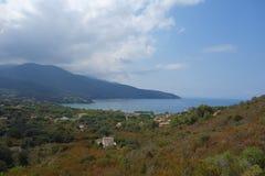 Sikt av Elba Island Royaltyfria Bilder