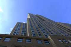 Sikt av Empire State Building - New York arkivbild