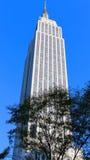 Sikt av Empire State Building - New York arkivfoton