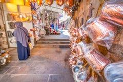 Sikt av en basar i Mardin, Turkiet arkivbilder