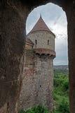 Sikt av en del från Corvin slott 1 Arkivbild