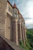 Sikt av en del från Corvin slott 2 Royaltyfria Bilder