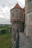 Sikt av en del från Corvin slott 3 Arkivbild