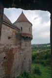 Sikt av en del från Corvin slott 4 Royaltyfria Bilder