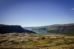 Sikt av en fjord Royaltyfri Bild