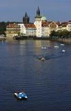Sikt av en gammal town av Prague Royaltyfri Fotografi
