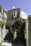 Sikt av en gränd i den gamla staden av Amantea Fotografering för Bildbyråer