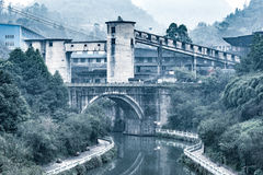 Sikt av en kolgruva i Yuejin Royaltyfria Bilder