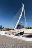 Sikt av en modern byggnad som kan användas till mycket i Valencia Royaltyfria Foton