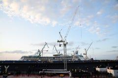 Sikt av en skeppsvarv Royaltyfri Fotografi