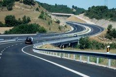Sikt av en spansk huvudväg Royaltyfri Fotografi