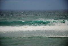 Sikt av en strand i bali, indonesia Royaltyfria Foton