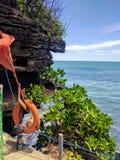 Sikt av en strand i bali, indonesia Royaltyfri Foto