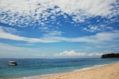 Sikt av en strand i bali, indonesia Fotografering för Bildbyråer