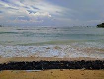 Sikt av en strand i bali, indonesia Royaltyfri Bild