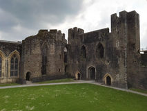 Sikt av en welsh slott Royaltyfri Bild