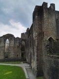 Sikt av en welsh slott Royaltyfria Foton