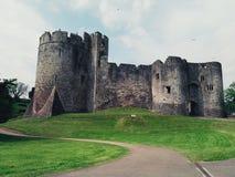 Sikt av en welsh slott Royaltyfri Fotografi