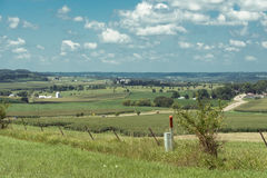 Sikt av ett fält i Illinois landssida Arkivfoton