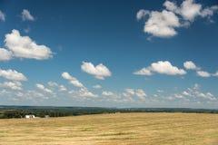 Sikt av ett fält i Illinois landssida Arkivfoto