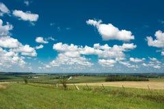 Sikt av ett fält i Illinois landssida Arkivbilder