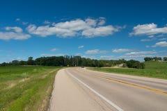 Sikt av ett fält i Illinois landssida Royaltyfri Bild