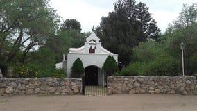 Sikt av ett gammalt kapell i San Esteban, Cordoba, Argentina arkivfoto