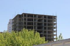 Sikt av ett höghus under konstruktion 30669 Arkivfoton