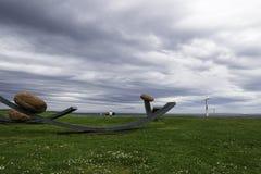 Sikt av ett konstverk i by för gryn för John nolla-` Arkivfoto