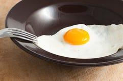 Sikt av ett stekt ägg Royaltyfri Bild