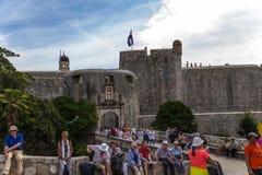 Sikt av fästningen av Dubrovnik Royaltyfri Fotografi