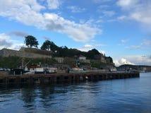 Sikt av fästningen i Oslo, Norge Arkivbilder