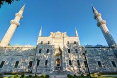 Sikt av fasaden av den Suleymaniye moskén i Istanbul, Turkiet Arkivfoton