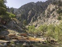 Sikt av felika ängar som trekking startpunkt Royaltyfri Foto