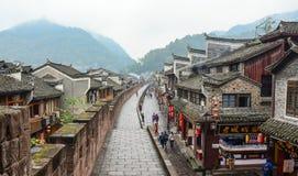 Sikt av Fenghuang den forntida staden i Hunan, Kina Royaltyfri Fotografi