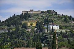 Sikt av Fiesole Royaltyfria Foton