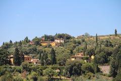 Sikt av Fiesole, Italien Royaltyfria Bilder