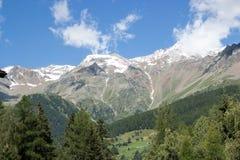 Sikt av fjällängar i Trentino fotografering för bildbyråer