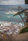 Sikt av fjärden av Gibraltar Arkivfoto