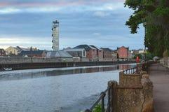 Sikt av floden Exe i Exeter Arkivfoto