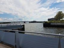 Sikt av floden från maringård i Washington DC Royaltyfri Foto