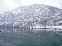 Sikt av floden i Bosnien Royaltyfria Bilder