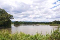 Sikt av floden i bygd Fotografering för Bildbyråer