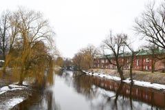 Sikt av floden Mukhavets i den Brest fästningen Royaltyfri Foto
