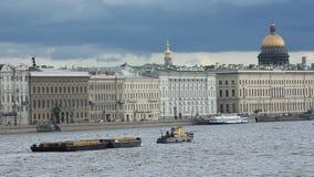 Sikt av floden Neva lager videofilmer