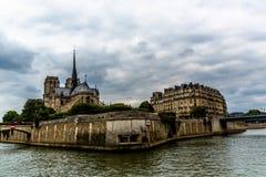 Sikt av floden Seine Arkivfoto