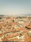 Sikt av Florence från över Royaltyfri Foto