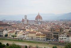 Sikt av florence i Italien Arkivfoto