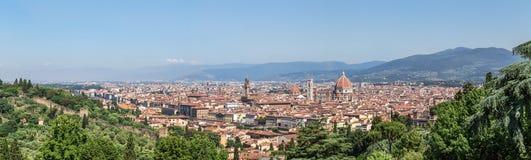 Sikt av Florence i Tuscany Royaltyfri Foto